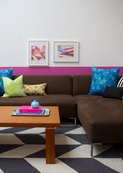 Modern Living Room by Erika Bierman Photography