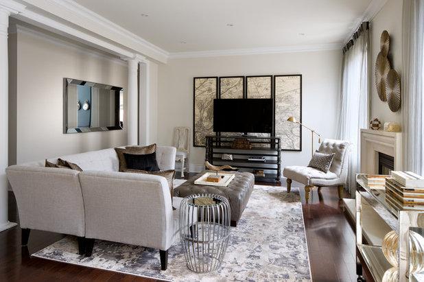 Transitional Living Room by Toronto Interior Design Group   Yanic Simard