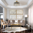 Library Transitional Living Room London By Paul