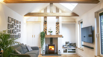 Vaulted Contemporary Living Area