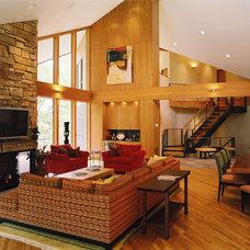 Contemporary Living Room by Erotas Building Corporation