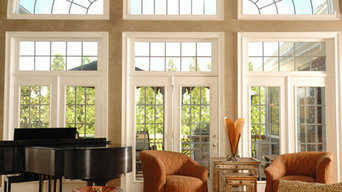 Vaulted Rooms With Window Film Application