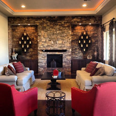 Craftsman Living Room by Allure Interiors Inc.....Crystal Ann Norris