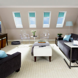 Inspiration for a contemporary living room remodel in Charlotte