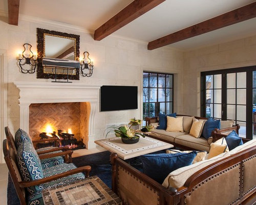 tv in formal living room tuscan fireplace houzz 20070