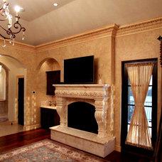 Mediterranean Living Room by John Henry Architect