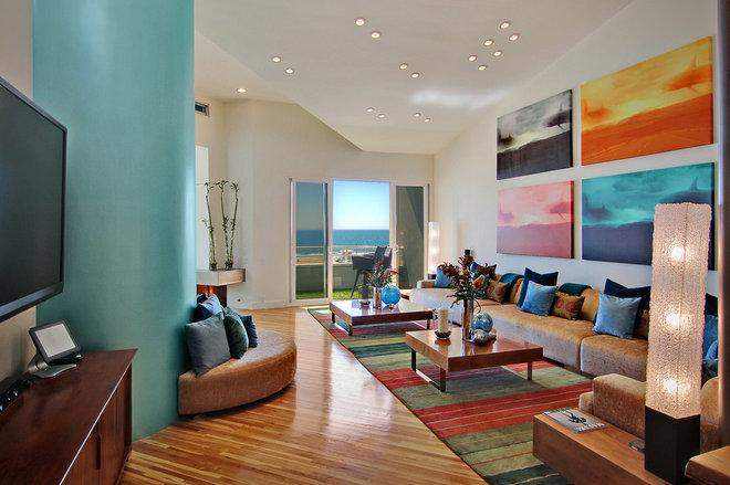 Contemporary Living Room by Amato Design Inc.