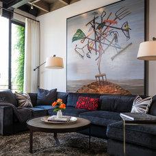 Contemporary Living Room by Amy DeVault Interior Design