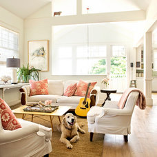 Beach Style Living Room by Court Designs