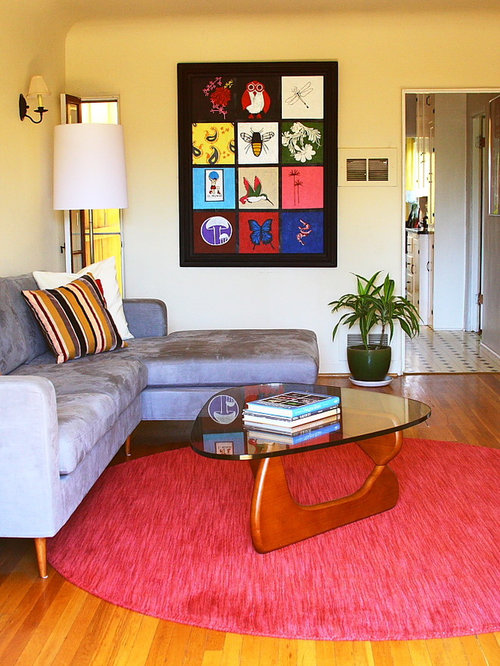 Red living room design ideas renovations photos with for Red and beige living room ideas