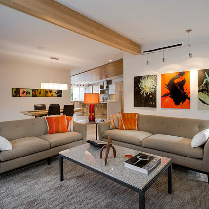 Midcentury Living Room by Dynan Construction Management