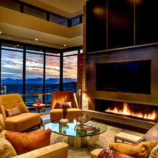 Modern Living Room by Kevin B Howard Architects, AIA