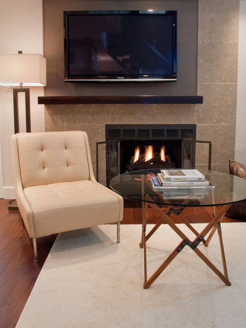 Inspiration For An Eclectic Living Room Remodel In Philadelphia With A Standard Fireplace And Wall