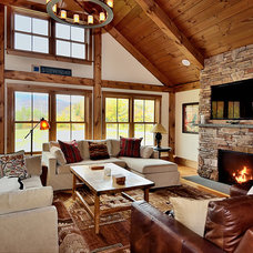 Rustic Living Room by Blansfield Builders, Inc.