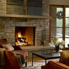 Rustic Living Room by TruexCullins Architecture + Interior Design