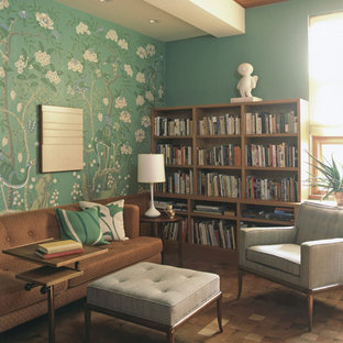 Inspiration for a midcentury modern living room remodel in New York