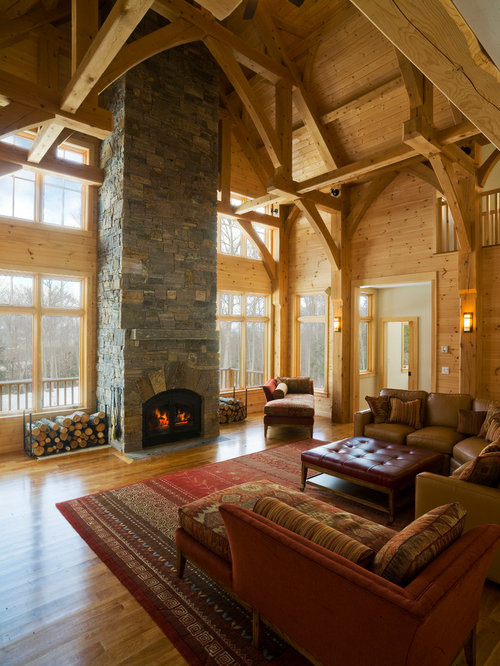 Awesome Example Of A Large Classic Living Room Design In Burlington With A Standard  Fireplace, No