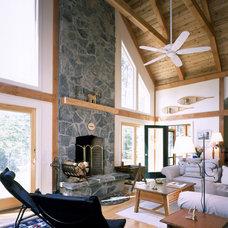 Traditional Living Room by Habitat Post & Beam, Inc.
