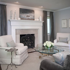 Transitional Living Room by Dayna Flory Interiors