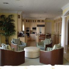 Tropical Living Room by Jennifer Mirch Designs