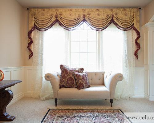 Houzz Living Room Valances Swag Design Ideas Remodels Photos