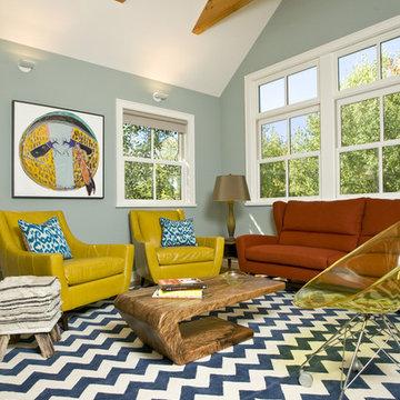Vibrant Family Room - Grace Home Design