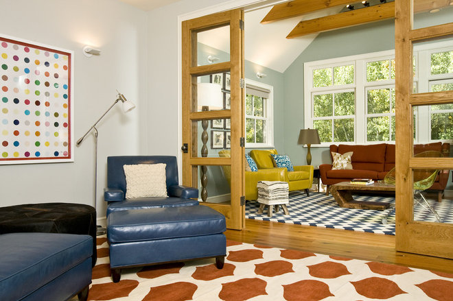 Eclectic Living Room by Grace Home Design, Inc.
