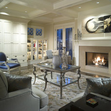 Traditional Living Room by Dwell Design Studio