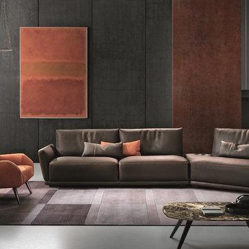 Victor Sectional Sofa by Gamma Arredamenti