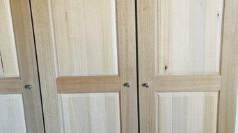 Victorain Ash Custom built cupboards and wine cellar
