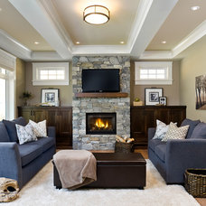 Traditional Living Room by KM Interior Designs