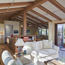 Mediterranean Living Room by Allen Construction