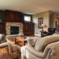 Traditional Living Room by M & M Home Contractors Inc