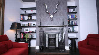 Victorian cast iron fireplace for lounge