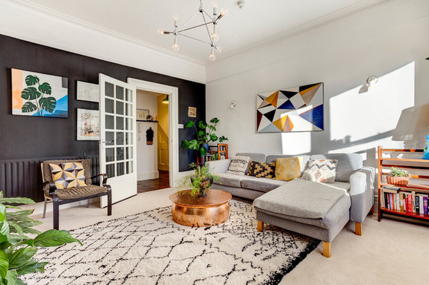 Transitional Living Room by Elissa Jane Diver Photography
