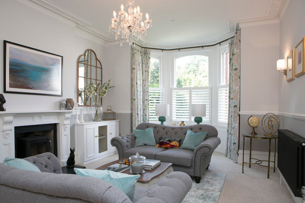 Transitional Living Room by Coral Interiors