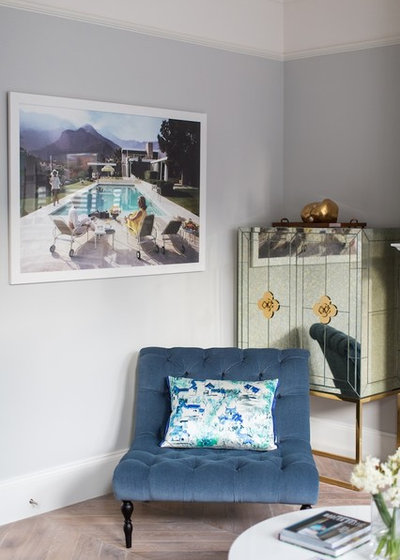 Contemporary Living Room by Laura Butler-Madden