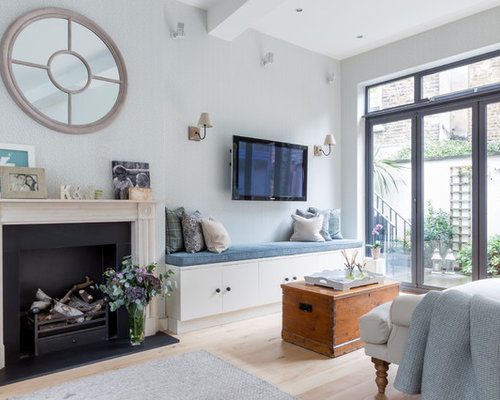Inspiration for a living room remodel in London Living Room Trunks  Houzz