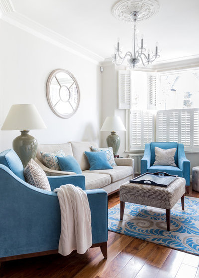 Victorian Living Room by Town House Interiors