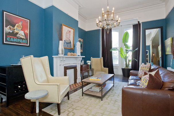 Traditional Living Room by Melissa Lenox Design