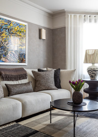 Eclectic Living Room by Sara Slade Interiors