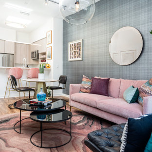 18 Beautiful Wallpaper Living Room Pictures Ideas November 2020 Houzz