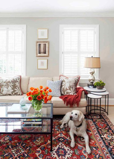 American Traditional Living Room by Terracotta Design Build