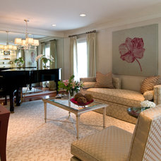 Eclectic Living Room by patricia gold interiors