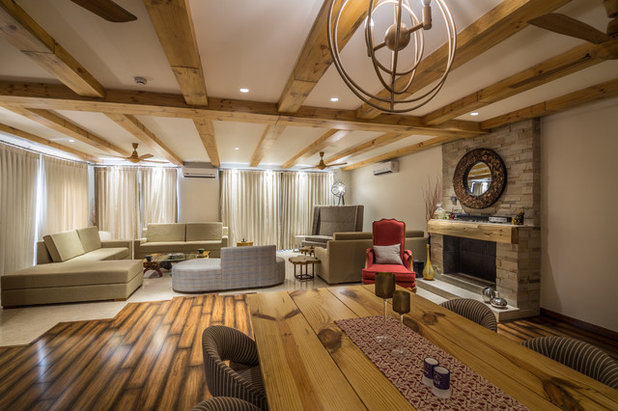 Rustic Living Room by Roped Design
