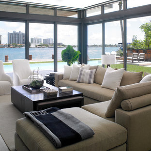 75 Beautiful Beach Style Living Room Pictures & Ideas   Houzz