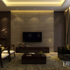 Asian Living Room by chuangjia decoration