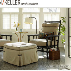 Traditional Living Room by Villa Lagoon Tile