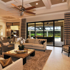 Transitional Living Room by Harbourside Custom Homes