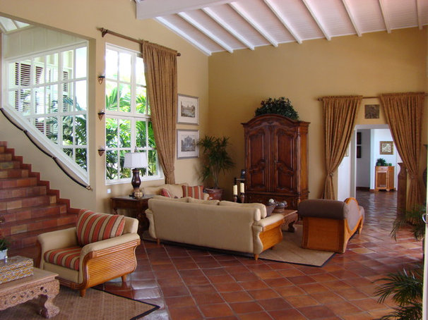 Tropical Living Room Villa Mille Fleurs, St. Martin, French West Indies